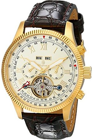 Men Watches - Men's Automatic Watch with Dial Analogue Display and Leather Bracelet BM330-275