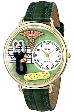 Women Watches - Whimsical Watches Nurse 2 in Gold Women's Quartz Watch with Dial Analogue Display and Leather Strap G-0620056