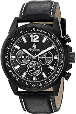 Burgmeister BM608-622A Washington, Gents Watch, Analogue Display, Chronograph with Citizen Movement - Water Resistant, Stylish Leather Strap
