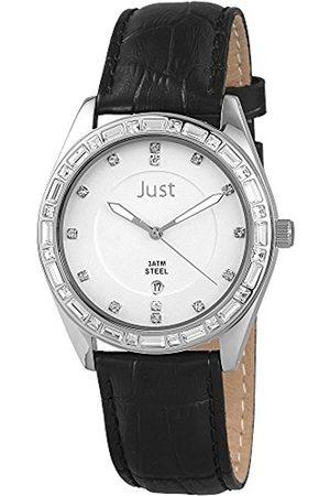 Women Watches - Women's Quartz Watch 48-S8262A-SL-BK with Leather Strap