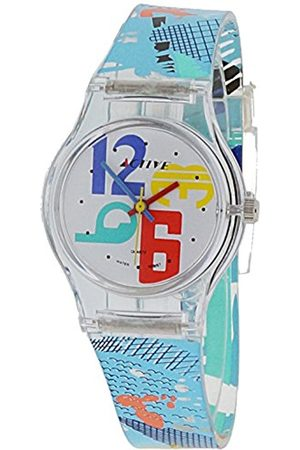 UNKNOWN Active Girl's Quartz Watch with Analogue Display and Plastic Strap ACT-003