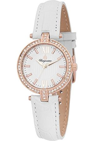 Women Watches - Women's Quartz Watch with Dial Analogue Display and Leather Bracelet BM167-316