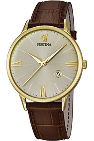 Men Watches - Festina Men's Quartz Watch with Dial Analogue Display and Leather Strap F16825/2
