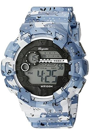 Men Watches - Men's Quartz Watch with LCD Dial Digital Display and Plastic Bracelet BM803-023