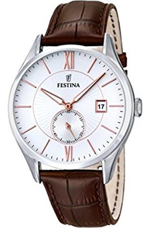 Men Watches - Festina Men's Quartz Watch with Dial Analogue Display and Leather Strap F16872/2