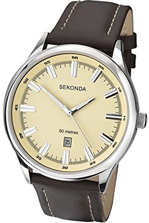 Men Watches - Sekonda Men's Quartz Watch with Dial Analogue Display and Leather Strap 1071.71