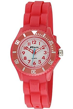 Girls Watches - Ravel Children's Easy Read Quartz Watch with Dial Analogue Display and Silicone Strap R1802.10