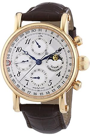 Men Watches - 7541RL Men's Sirius Moonphase Mechanical Watch with Dial Chronograph Display and Strap