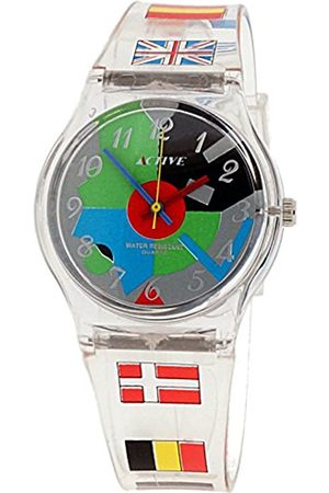 Women Watches - Active Women's Quartz Watch with Multi-Colour Dial Analogue Display and Plastic Strap ACT-006
