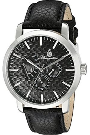 Men Watches - Men's Quartz Watch with Dial Analogue Display and Leather Bracelet BM219-122
