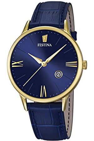 Men Watches - Festina Men's Quartz Watch with Dial Analogue Display and Leather Strap F16825/3