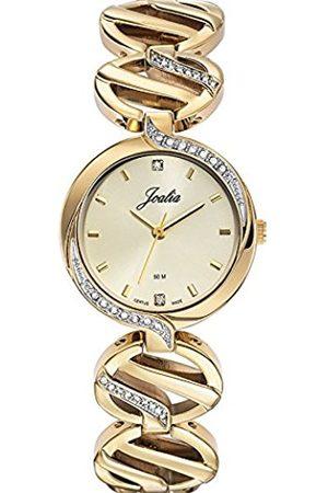 Women Watches - 631744-Women's Quartz Analogue Watch-Golden Metal Bracelet Golden Dial