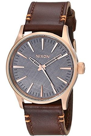 Men Watches - Nixon Sentry 38 Leather Watch Rose A377 2001