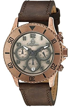 Men Watches - Men's Quartz Watch with Dial Analogue Display and Leather Bracelet BM532-955