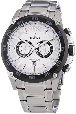 Festina Men's Quartz Watch with Dial Analogue Display and Stainless Steel Bracelet F16680/1