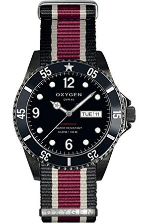 Oxygen Moby Dick 40 Mens Quartz Watch with Dial Analogue Display and Nylon Strap EX-D-MBB-40-NN-BLIVPL