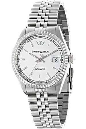 Men Watches - Philip Caribe Men's Automatic Watch with Dial Time Teacher Display and Stainless Steel Strap R8223597009
