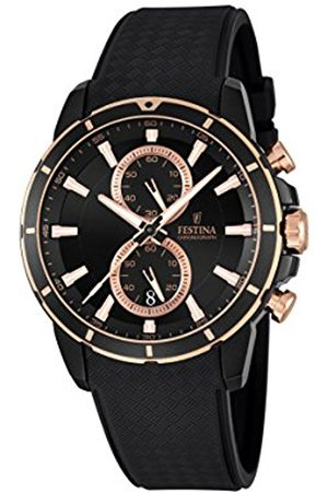 Men Watches - Festina Men's Quartz Watch with Dial Chronograph Display and Rubber Strap F16852/1