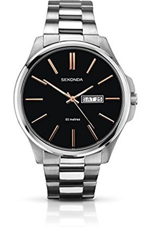 Men Watches - Sekonda Men's Quartz Watch with Dial Analogue Display and Stainless Steel Bracelet 1097.27