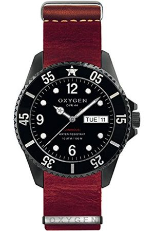 Oxygen Moby Dick 44 Mens Quartz Watch with Dial Analogue Display and Leather Strap EX-D-MBB-44-NL-RE