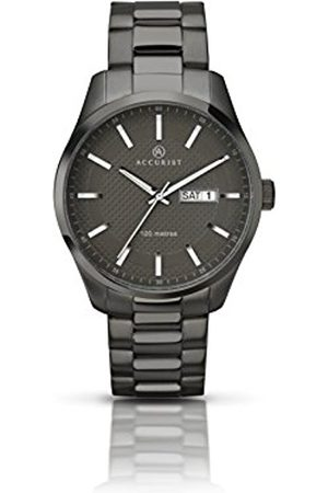 Accurist Men Watches - Men's Quartz Watch with Dial Analogue Display and Stainless Steel Bracelet Plated Bracelet 7058.01
