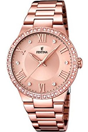 Festina Women's Quartz Watch with Rose Dial Analogue Display and Rose Stainless Steel Plated Bracelet F16721/2