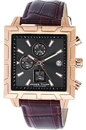 Men Watches - JT710–2 Men's Watch Quartz Chronograph Square Brushed Stainless Steel