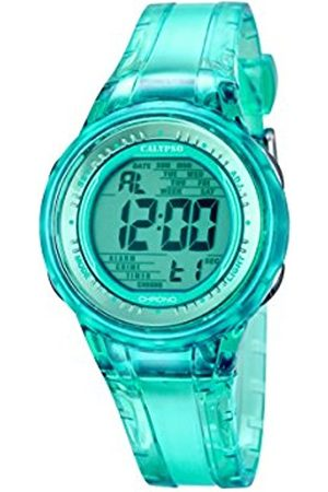 Women Watches - Calypso Women's Digital Watch with Turquoise Dial Digital Display and Turquoise Plastic Strap K5688/4