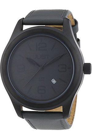 Men Watches - Men's Watch Analogue XL Leather Quartz 48–S5925Bk-Size