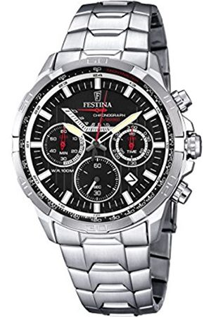 Men Watches - Festina Men's Quartz Watch with Dial Chronograph Display and Stainless Steel Bracelet F6836/4