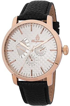Men Watches - Men's Quartz Watch with Dial Analogue Display and Leather Bracelet BM219-312