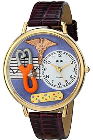 Women Watches - Whimsical Watches Nurse 2 in Gold Women's Quartz Watch with Dial Analogue Display and Leather Strap G-0620050