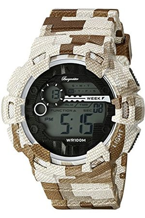 Men Watches - Men's Quartz Watch with LCD Dial Digital Display and Plastic Bracelet BM803-025