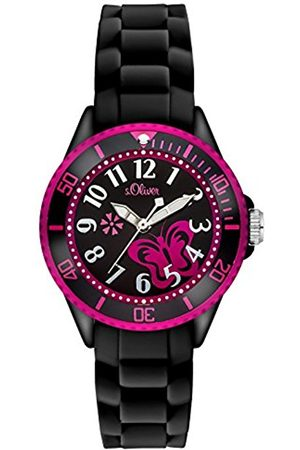 Girls Watches - s.Oliver Girl's Quartz Watch with Dial Analogue Display and Silicone Strap SO-2993-PQ