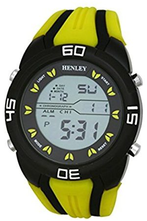 Men Watches - Digital Sports Chronograph Watch on Silicone Strap Men's Digital Watch with Dial Digital Display and Silicone Strap HDG0219