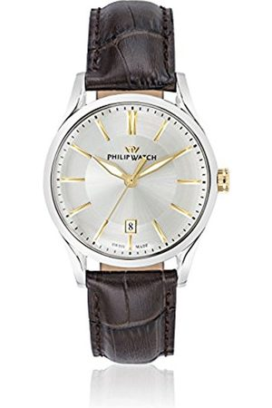 Men Watches - Philip Sunray Men's Quartz Watch with Dial Analogue Display and Leather Strap R8251180004