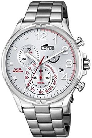 Men Watches - Lotus Men's Quartz Watch with Dial Chronograph Display and Stainless Steel Bracelet 10126/1