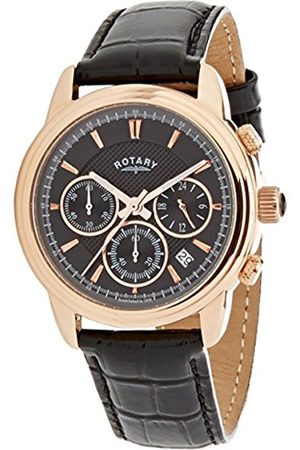 Men Watches - Men's Quartz Watch with Dial Chronograph Display and Leather Strap GS02879/04