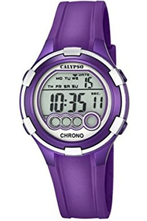 Women Watches - Calypso Women's Digital Watch with LCD Dial Digital Display and Plastic Strap K5692/5