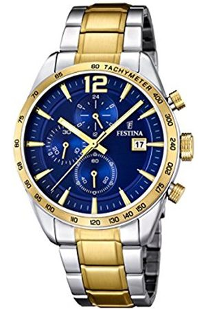 Men Watches - Festina Men's Quartz Watch with Dial Chronograph Display and Stainless Steel Plated Bracelet F16761/2