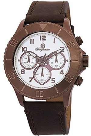 Men Watches - Men's Quartz Watch with Dial Analogue Display and Leather Bracelet BM532-015