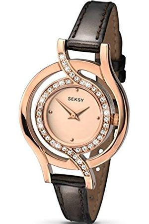 Women Watches - Sekonda Women's Quartz Watch with Rose Dial Analogue Display and Leather Strap 2039.37