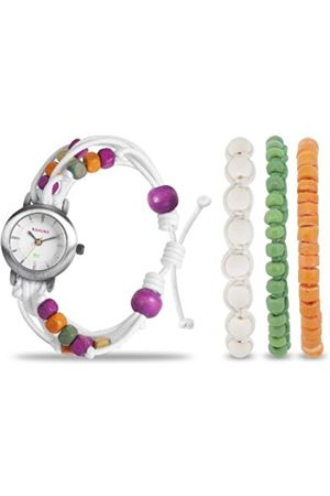 Women Watches - Women's Quartz Watch with Dial Analogue Display and Fabric Strap KLF-0015LSTK