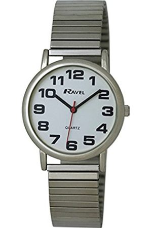 Men Watches - Ravel Easy Read Watch on Expandable Men's Quartz Watch with Dial Analogue Display and Stainless Steel Plated Bracelet R0208021S