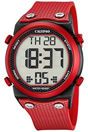 Watches - Calypso Unisex Digital Watch with LCD Dial Digital Display and Plastic Strap K5705/5