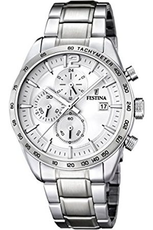 Men Watches - Festina Men's Quartz Watch with Dial Chronograph Display and Stainless Steel Bracelet F16759/1