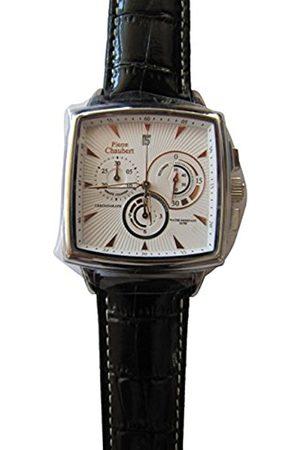 Men Watches - Men's Quartz Watch Chronograph Display and Leather Strap HEWS39088