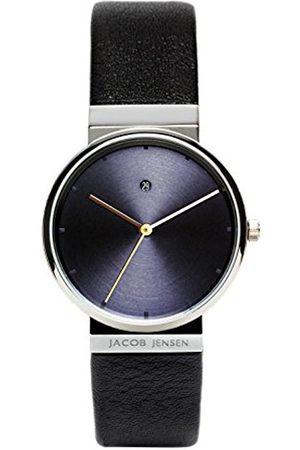 Women Watches - Jacob Jensen Dimension Series Women's Quartz Watch with Dial Analogue Display and Black Leather Strap 851