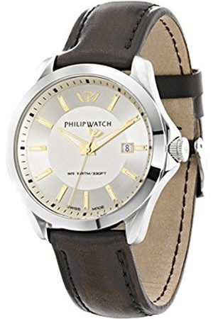 Men Watches - Philip Blaze Men's Quartz Watch with Dial Analogue Display and Leather Strap R8251165002