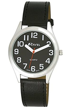Ravel Unisex R0125031 Easy Read Classically Styled Watch with Bold Hands and Bold Numbers on PU Strap Quartz Watch with Dial Analogue Display